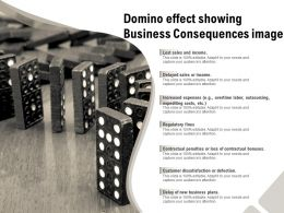 Domino Effect Showing Business Consequences Image