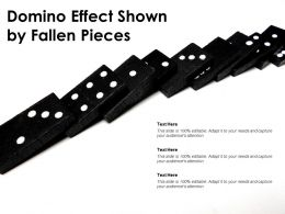 Domino Effect Shown By Fallen Pieces