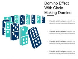 Domino Effect With Circle Making Domino
