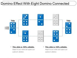 Domino Effect With Eight Domino Connected
