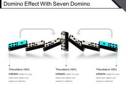 Domino Effect With Seven Domino