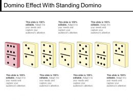 Domino Effect With Standing Domino