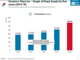 Dominos Pizza Inc Graph Of Fixed Assets For Five Years 2014-18