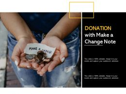Donation With Make A Change Note