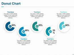 Donut Chart Ppt Visual Aids Background Images