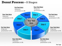 Donut Pie Chart For Data Comparisons 8 Stages 3