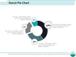 Donut Pie Chart Investment Ppt Slides Example Introduction