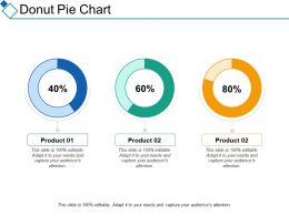 Donut Pie Chart Marketing Finance Ppt Summary Designs Download