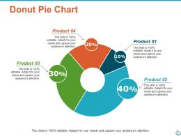 Donut Pie Chart Marketing Ppt Show Infographic Template