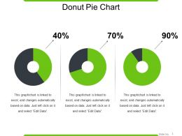 Donut Pie Chart PowerPoint Shapes