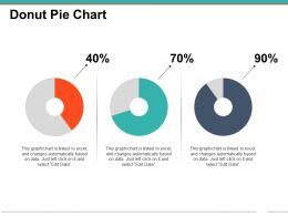 Donut Pie Chart Powerpoint Slide Clipart
