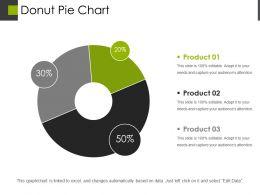 Donut Pie Chart Powerpoint Slide Designs