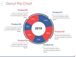 Donut Pie Chart Powerpoint Slide Designs Template 1
