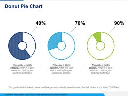 Donut Pie Chart Powerpoint Slide Information
