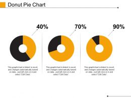 Donut Pie Chart Powerpoint Slide Presentation Guidelines