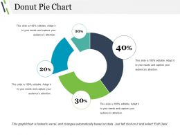 Donut Pie Chart Powerpoint Slide Presentation Sample