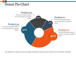 Donut Pie Chart Powerpoint Slides Templates
