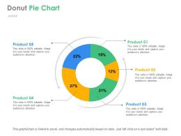 Donut Pie Chart Ppt Background Designs