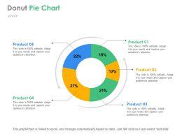 Donut Pie Chart Ppt Background Designs