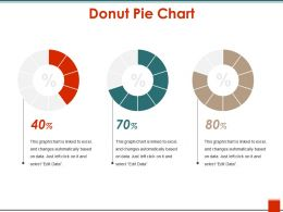 Donut Pie Chart Ppt Background Template