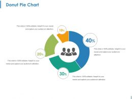 Donut Pie Chart Ppt Examples