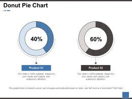 Donut Pie Chart Ppt Portfolio Brochure