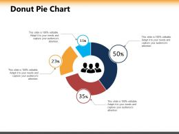 Donut Pie Chart Ppt Powerpoint Presentation Inspiration Example Introduction