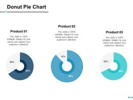 Donut Pie Chart Ppt Show Templates