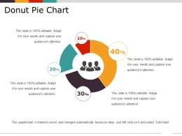 Donut Pie Chart Ppt Slide Examples