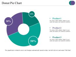 Donut Pie Chart Ppt Slides