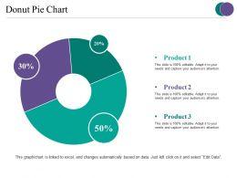 Donut Pie Chart Ppt Slides