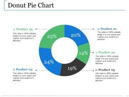 Donut Pie Chart Ppt Slides Portfolio