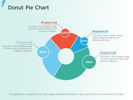 Donut Pie Chart Ppt Slides Show
