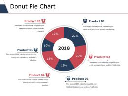 Donut Pie Chart Ppt Styles Example