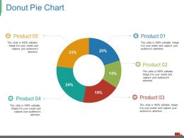 Donut Pie Chart Ppt Visual Aids Gallery