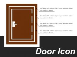 Door Icon 10 Ppt Example File
