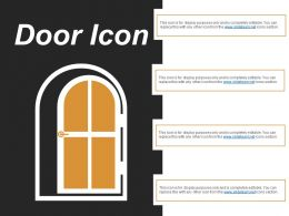 Door Icon 1 Powerpoint Slide Rules
