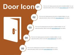 Door Icon 2 Powerpoint Slide Show