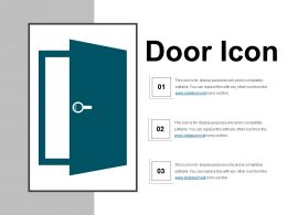 Door Icon 3 Powerpoint Slide Templates