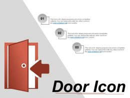 Door Icon 4 Powerpoint Slides