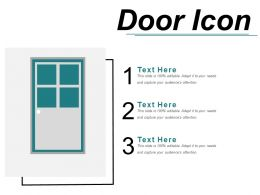 Door Icon 5 Powerpoint Slides Templates