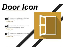 Door Icon 6 Powerpoint Templates