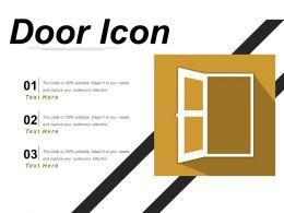 Door Icon 6 Powerpoint Templates