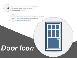 Door Icon 7 Ppt Background Designs