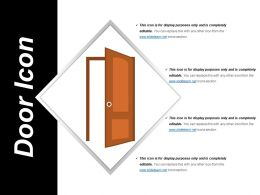 Door Icon 8 Ppt Background Images