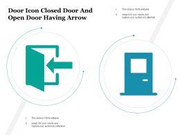 Door Icon Closed Door And Open Door Having Arrow
