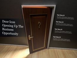 Door Icon Opening Up The Business Opportunity