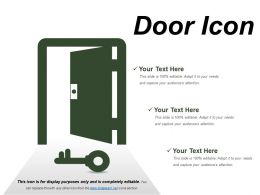 Door Icons 11 Ppt Samples Download