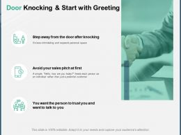 Door Knocking And Start With Greeting A148 Ppt Powerpoint Presentation Outline Visuals