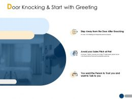 Door Knocking And Start With Greeting A206 Ppt Powerpoint Presentation File Deck